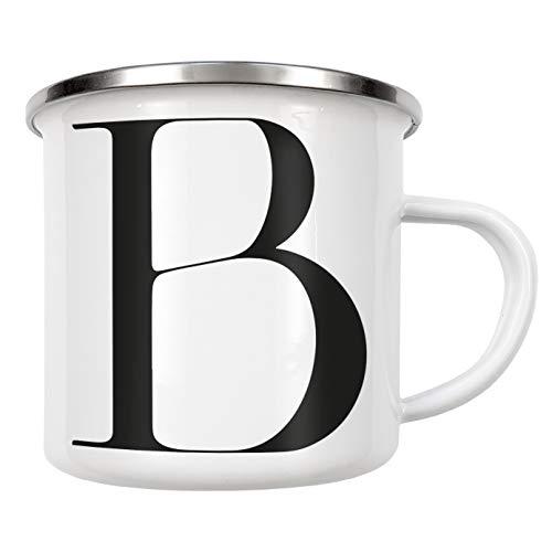 artboxONE Emaille Tasse Buchstabe ? B von Dunja Krefft - Emaille Becher Buchstaben/B