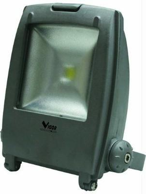 Vigor 34784-87 Faro a LED Modello Star, Luce Bianca, 10 W, Grigio