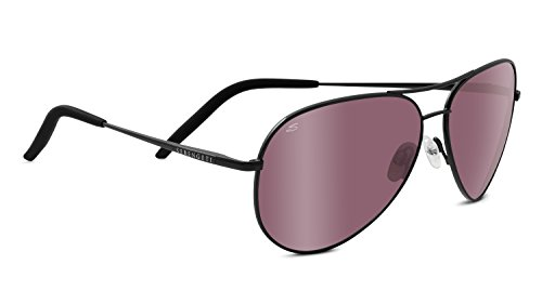 Serengeti Eyewear Sonnenbrille Carrara, Satinack/Polarized Sedona Bi Mirror, 8454