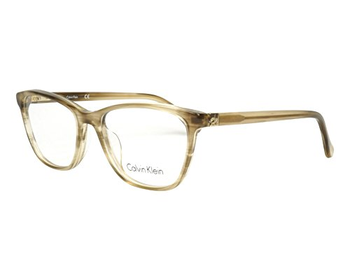 Calvin Klein Platinum - CK5883, Rechteckig, Acetat, Damenbrillen, STRIPED BROWN (240 ), 52/16/140