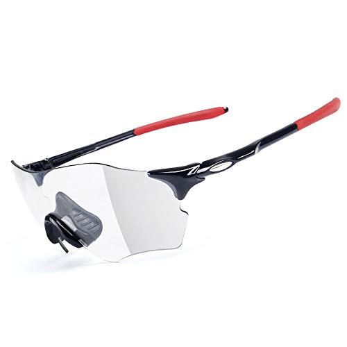 Owenyang Polarisierte Sportsonnenbrille Radfahren Laufen Sonnenbrille Superlight Frame Design für Herren und Damen 6 Farben Radfahren Brille Sonnenbrille Anti-Fog Ideal zum Fahren (Color : Black Red)