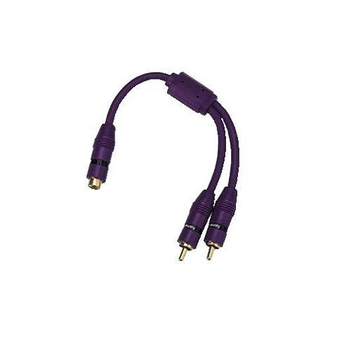 Hama CarHifi-Y-Adapter 1 Cinch-Kupplung - 2 Cinch-Stecker