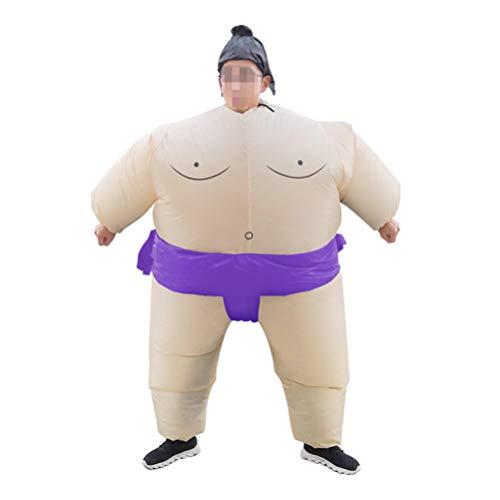 Amosfun Disfraz Hinchable de Adulto Inflable Trajes de Luchador de Sumo para Fiesta de Cosplay (sin batería Color Aleatorio) 150-195 cm