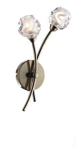 Seattle - Modern Halogen Antique Brass 2 arm wall light sea0975 - Houseoflights