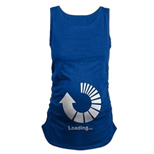 Amphia - Schwangere Mutterschaft Shirt ärmelloses T-Shirt Schwangere Tops - Schwangere Frauen-Rundhalsausschnitt-niedliche lustige T-Shirt der schwangeren Frauen ärmelloses Oberteile (Für Frauen Schwangere Lustige Kostüme)