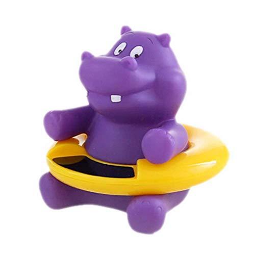 Fligatto Badethermometer, Digitales Baby Badewanne Thermomete für Sicheres Baden, Niedliche Cartoonfigur Badespielzeug (Nilpferd)