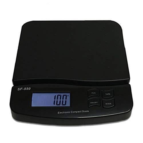 WCX Digitale Küchenwaage Elektronische Waage Hohe Präzision Tara-Funktion LCD-Display (Farbe : Schwarz, größe : 25kg/1g) (Digital Waage 25 Kg)