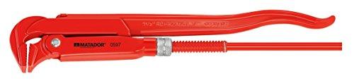 MATADOR Rohrzange 90°, DIN 5234, Form A, 2 Zoll / 0-70 mm, 0597 0003