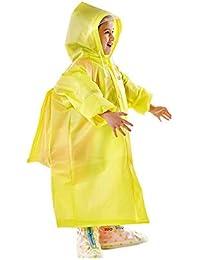 URWONDERFUL Gabardina para niños Poncho bebé niño Gabardina de Escuela Primaria con una Mochila Día lluvioso Viaje Exterior