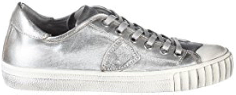 Philippe Model Herren GRLUMJ01 Silber Baumwolle Sneakers