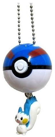 Pokemon Diamond and Pearl Swing Keychain Figure with Pokeball - Pachirisu