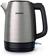 PHILIPS Daily Collection Kettle Stainless Steel, Spring lid, Light indicator, Silver, 1.7 L, HD9350