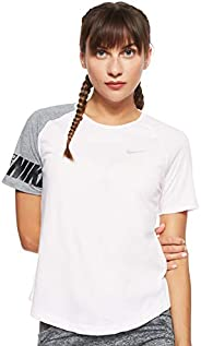 Nike Women's Miler Top Ss Sd T-S