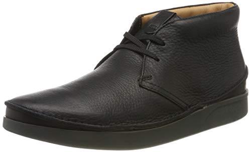 Clarks Herren Oakland Rise Klassische Stiefel, Schwarz Black Leather, 44 EU