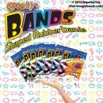 GOOGLY BANDS HOLLYWOOD SHAPED RUBBER BANDS 12 Collectible Bands Package