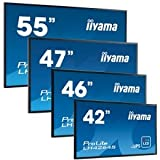Flachbildschirm iiyama ProLite LH4264S, LFDs, LED-Hintergrundbeleuchtung, TFT Monitor, 16:9, 106,7cm (42 Zoll), 1920x1080 Pixel, 9ms, Helligkeit: 400cd, Blickwinkel: 178/178°(H/V), Kontrast: 1000:1, RS232, DVI, VGA, Display-Port, HDMI, inklusive Kabel (VGA, DVI), Netzkabel, QSG, Farbe: schwarz