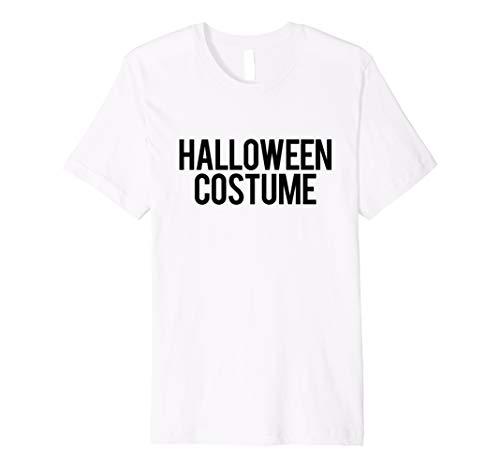 Retro Generic Halloween-Kostüm | schwarz & weiß Label TShirt
