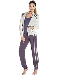 Adriana Arango 3 Piece Women/'s Sportswear Set Hoodie Zip Jacket Tank Pants