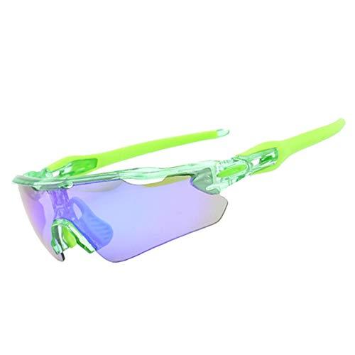 MaxAst Brille Winddicht Radsport Motorrad Brille Herren Schutzbrille Beschlagfrei Grün Grün