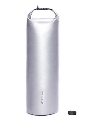 CROSSO CO1014 80L Transportbeutel wasserbeständig Fahrradtasche Gepäcktasche Silber