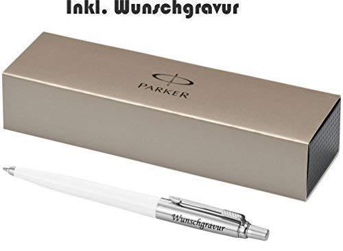 Grabado de modelo Parker Bolígrafo JOTTER Blanco Incluye grabado láser grabado NUEVO