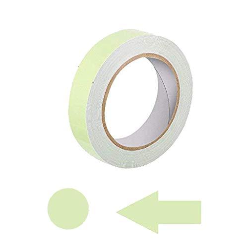 Lvcky 39,4Füße Glow Tape in The Dark mit 24teilig Luminous Dot Tape und Arrow Aufkleber 2,5cm nachleuchtend Wasserdicht Selbstklebend