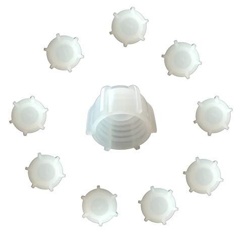 Kartuschenverschlusskappe 10 STÜCK Verschlusskappe für Kartuschen, Kartuschenverschluss mit Grobgewinde Schraubkappe Silikon Kartusche wiederverwenden und sicher verschließen Kartusche zumachen -