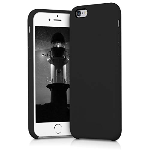 Kwmobile apple iphone 6 / 6s cover - custodia per apple iphone 6 / 6s in silicone tpu - back case cellulare nero