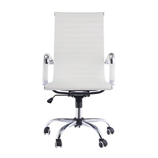 Sedia Da Computer Ergonomica.Ebs Sedia Da Ufficio Girevole Poltrona Sedia Da Scrivania Tavolo Per Computer Ergonomica Poliuretano Bianco Alto