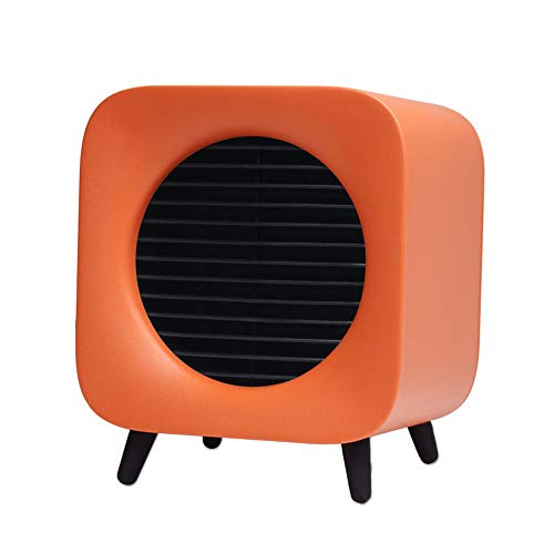 Tragbarer Schreibtisch-Mini-Heizer - USB-Ladedes Desktop-Ventilators, Kreatives Warmes Nachtlicht Am Nachttisch, Große Geschenke Für Small Table Fan Mit Touch An/Aus,Orange