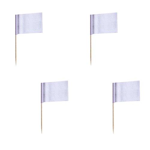 faehnchen zum beschriften 500 Deko-Picker 8 cm weiss zum Beschriften Flaggenpicker / Fahnenpicker