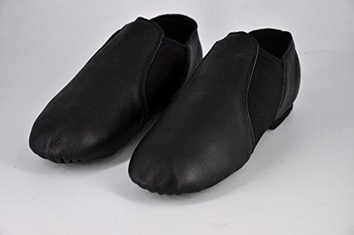 Wuyulunbi@ Adulto Scarpe da danza jazz scarpe morbide scarpe di fondo Nero