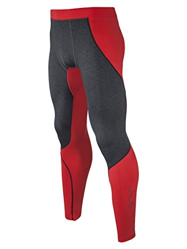 Sub Sports Herren Warme Thermo-Leggins / Tights, Kompressionspassform - Rot - Medium (Thermal Die Tight Performance Run)