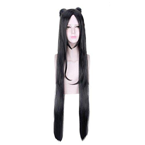 Cosplay Anime PerüCke MäDchen Schwarz Langes, Glattes Haar PerüCke Setzt (Nicht Mainstream Halloween Kostüme)