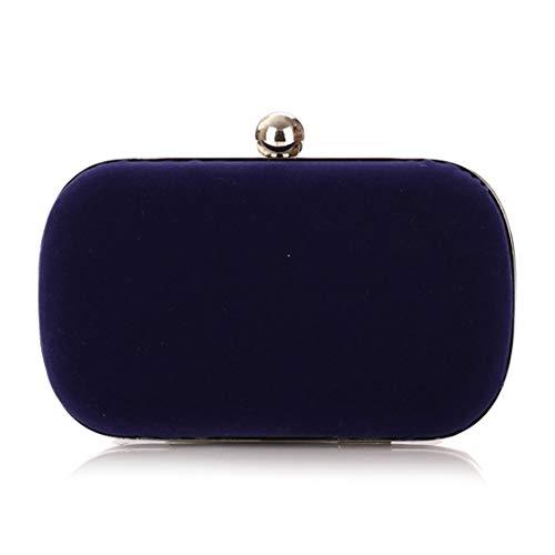 Sixminyo Damen Abend Handtasche Tasche Flanell Mode Handtasche (Color : Blue)