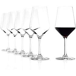 Stölzle_Lausitz Verres à vin Rouge Revolution de, 490ML, Lot de 6, Verres à vin Rouge hautement Fonctionnels, Verre à vin Rouge conçu pour de Nombreux cépages
