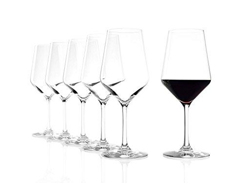 Stölzle Lausitz Rotweingläser Revolution, 490ml, 6er Set Weinglas, hoch funktionelle Roweinkelche,...