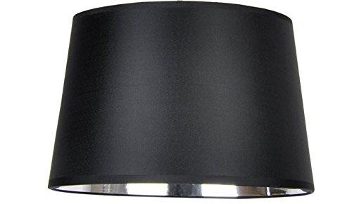 Designer-Lampenschirm-Satin-schwarz-rund-konische-Form Ø 40cm innen Chrom (25 * 40 * 26cm) -