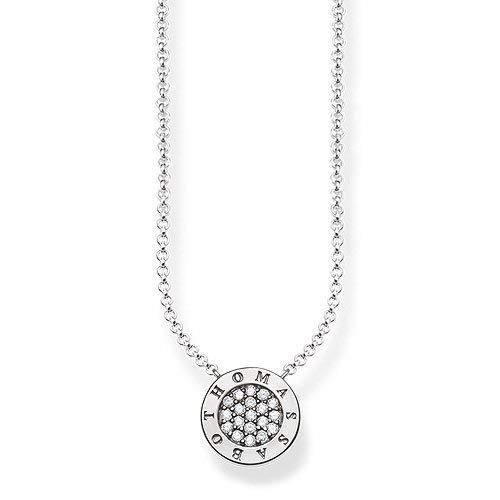 Thomas Sabo Damen-Collier 925 Silber Zirkonia weiß 45 cm - KE1493-051-14-L45v