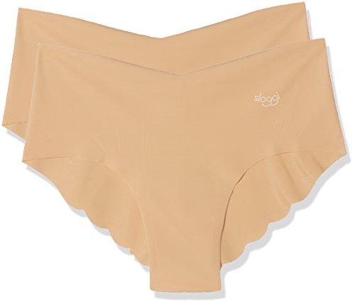 Sloggi Zero Microfibre H Hipster C2P, Shorty Femme, Beige (Peau), 38 (Taille Fabricant: 000S EU/S FR) (lot de 2)