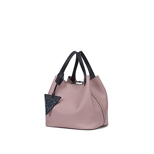Yvonnelee Hochwertige Echtes Leder Tote Handtasche Henkeltasche Tasche Schultertasche Damen Rosa