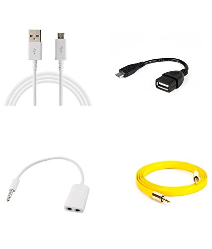 Vbn 3.1Mm Audio Jack Aux Splitter,Usb Data Cable,Otg Cable And Auxilary Input Cable For Usin Car,Player  available at amazon for Rs.499