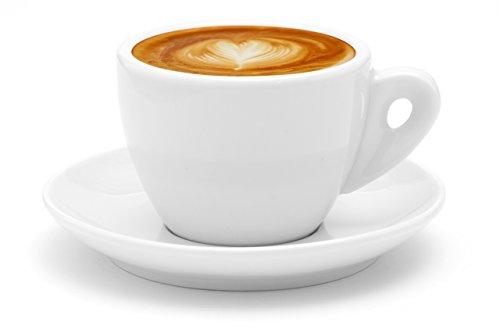Business Coffee Dickwandige Cappuccinotassen, Cappuccino Autentico, weiß aus Porzellan, 6 Stück