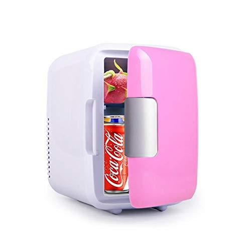 Basisago Mini Kühlbox Mini-Kühlschrank mit Warmhalte-Funktion, 5 Liter für 12 & 220 V Ausklappbarer Tragegriff, Geeignet für Getränke Mineralwasser Bier Maske Kosmetik Medizinische Versorgung -