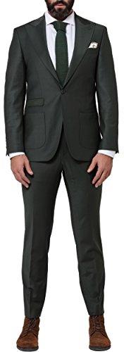 Sarah Kern Homme Business Anzug für Herren Model Boston 2, Herrenanzug Casual Anzug Slim Fit. Der Männer Anzug ist 2-teilig - Sakko & Hose Grün