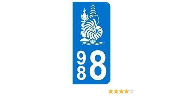 Drapeau Kanaky 2 Stickers autocollant plaque voiture988 Nouvelle-Calédonie
