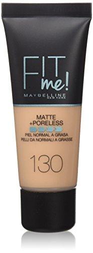 Maybelline Fit Me Matte Base de maquillaje, Tono: 130 Buff Beige