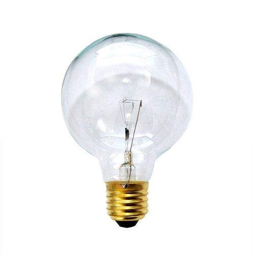 25w Klar Globe (Globe Glühbirne 25W E27 KLAR G80 80mm Globelampe 25 Watt Glühlampe Glühbirnen Glühlampen)