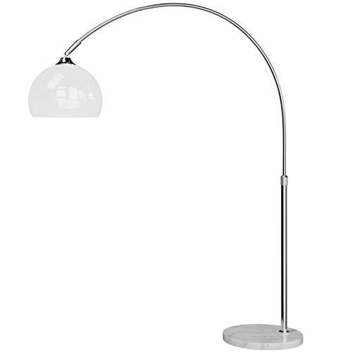 Lampe à arc Design avec socle en marbre - 146-220cm réglable ajustable salon