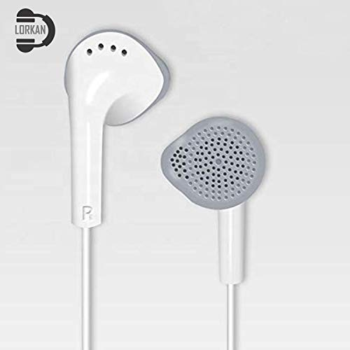 DLORKAN DL_D-YS-3004 for Lenovo K6 Power (Gold, 32GB, 3GB RAM) in-Ear Headphones/Earphone/Headsets Fab Sound 3.5mm Jack with Microphone and Call Controller (Color May Vary)